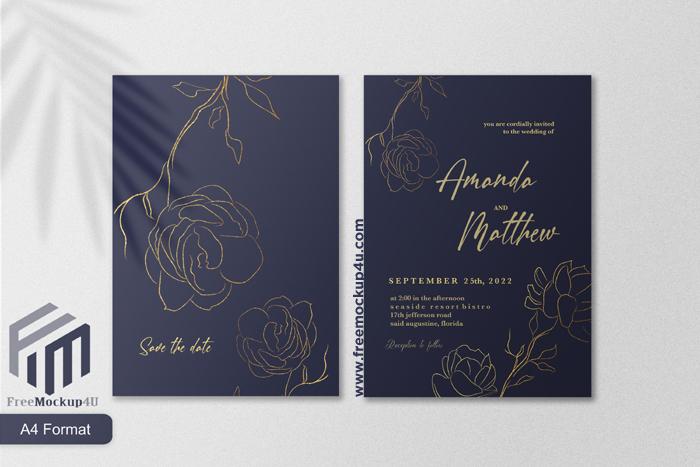 Minimalist Elegant Wedding Invitation Template