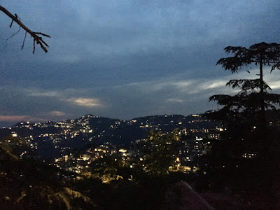 evening city view Shimla