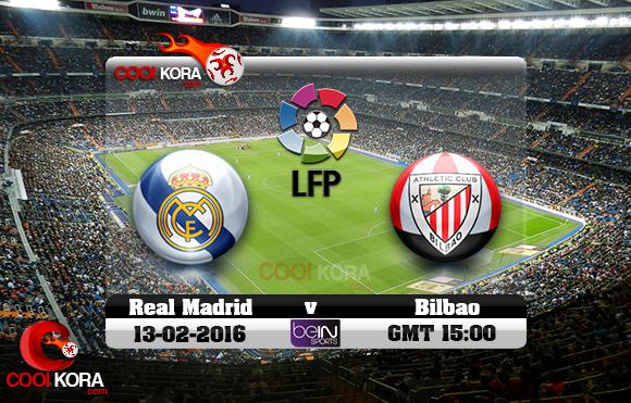 مشاهدة مباراة ريال مدريد وأتلتيك بيلباو اليوم 13-2-2016 في الدوري الأسباني