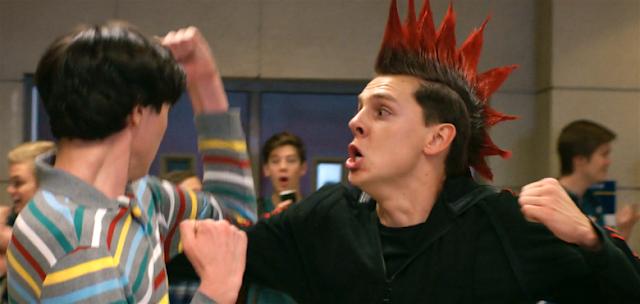 Demetri and Hawk fight