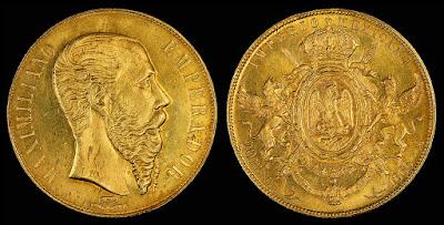 20 Pesos Mexicanos de 1866 - moneda rara