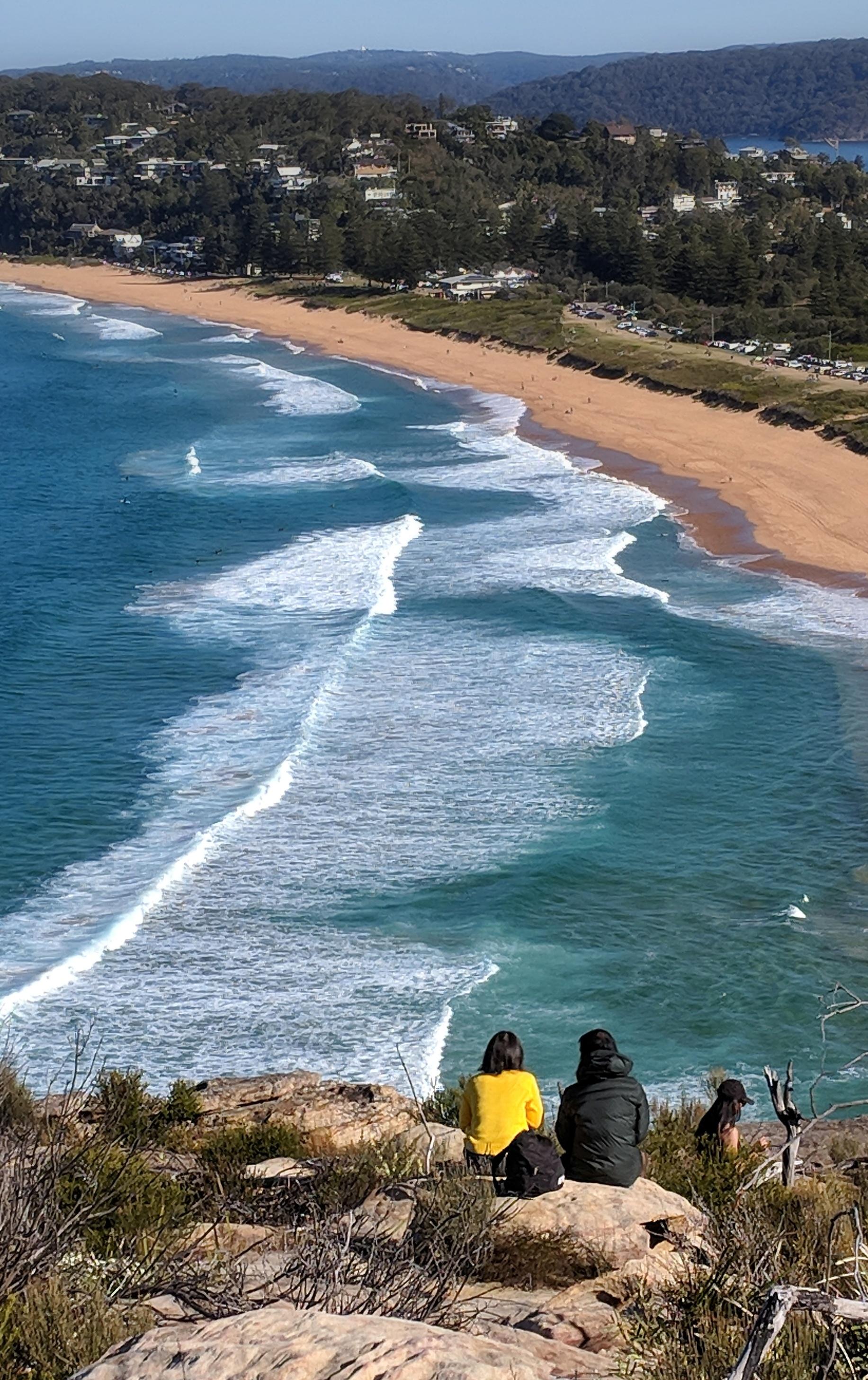 View of Palm Beach from Barrenjoey Head, Sydney