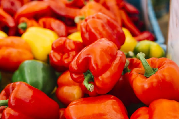 What are the benefits of red bell peppers ?