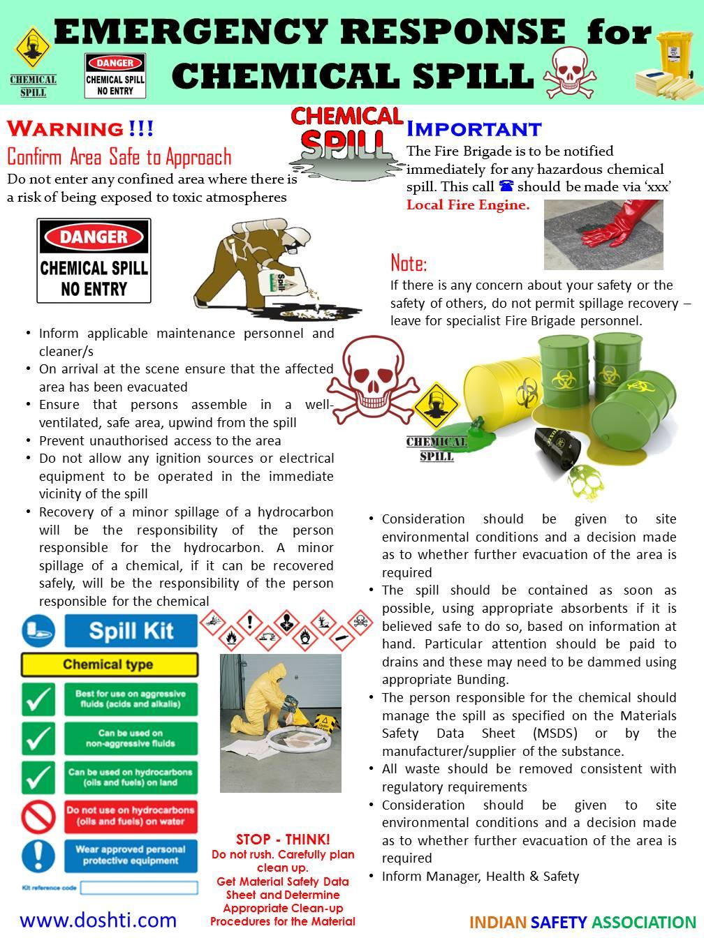 doshti emergency procedures chemical spills