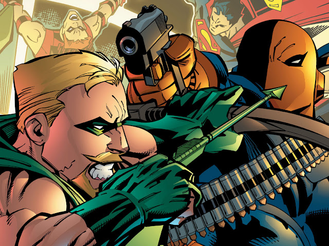 green arrow vs deathstroke