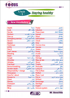 مذكرة اللغة الانجليزية للصف الثانى الثانوى 2021، مستر أحمد عطية، مذكرة انجليزى 2 ثانوى جديد