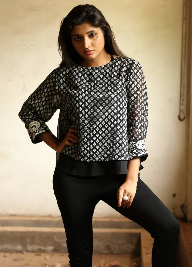 Aditi Menon Photoshoot Stills In Black Top  Indian Girls -4619