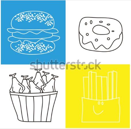 illustration background restaurant fast food