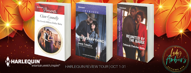 Harlequin Recommended Reads October 2019 ~ Risk Everything & Reunited by the Badge