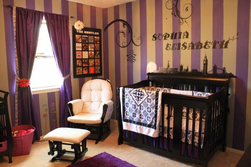 Dormitorios de beb en morado y gris dormitorios colores for Paredes moradas decoradas