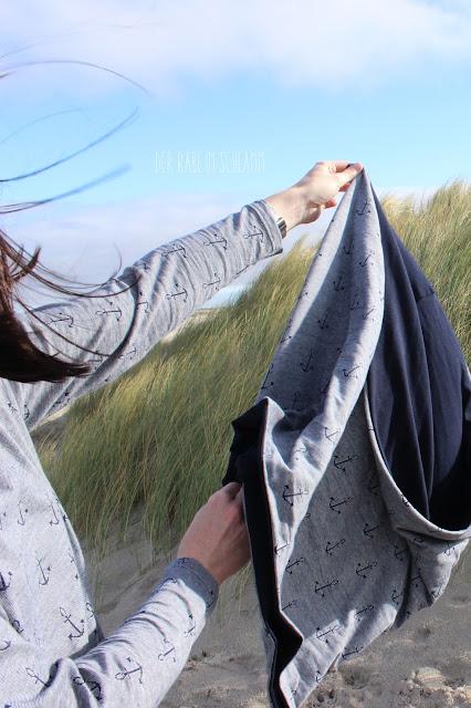 Der Rabe im Schlamm, Nähen, Sewing, Westfalenstoffe, Tante Hertha, Shirt, Loop, Anker