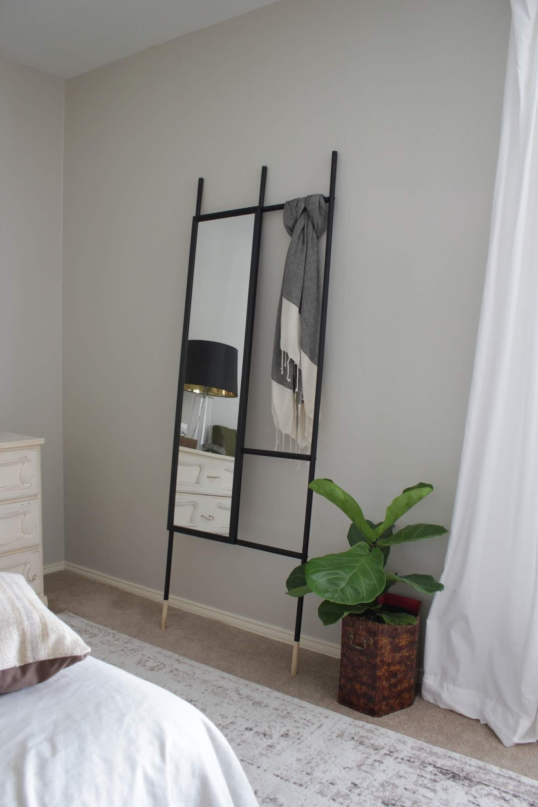 We've lived in our house a whole year!! Check out the tour and a round up of projects I've done. It's been great!   House Homemade Leaning Mirror knock off