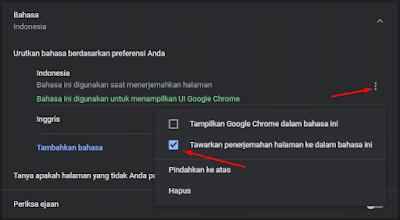 Cara Mengaktifkan Fitur Google Translate di Chrome Melalui Setelan