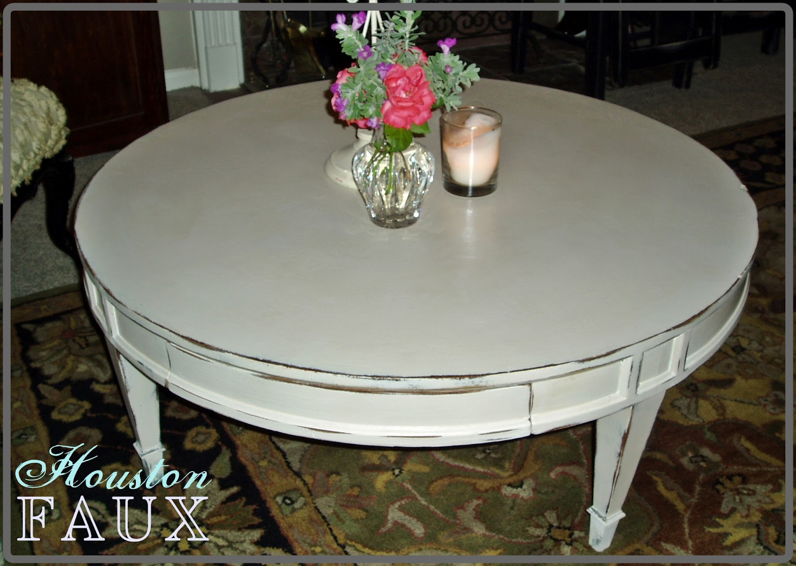 Faux Painting Furniture Back To Basics Round Coffee
