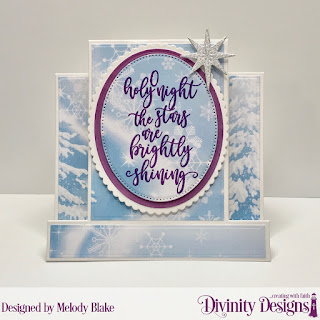 Stamp Set: Silent Night, Custom Dies: Center Step with Layers, Scalloped Ovals, Ovals, Pierced Ovals, Shining Star, Paper Collection: Christmas 2019