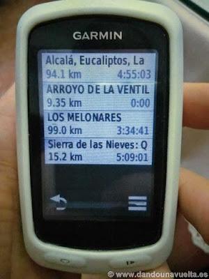 Los diferentes trayectos cargados en mi GPS, cargar ruta a Garmin