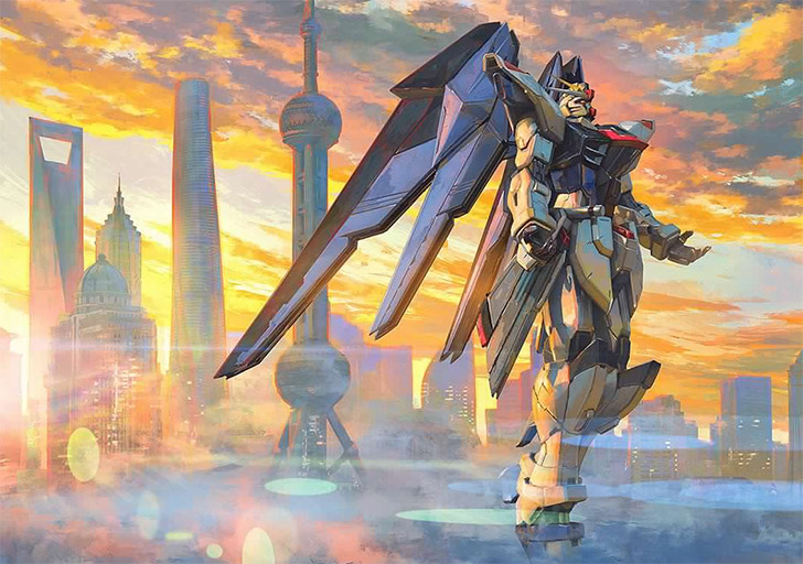 "Un Gundam per l'""Another Century"": il Freedom Gundam di Shanghai"