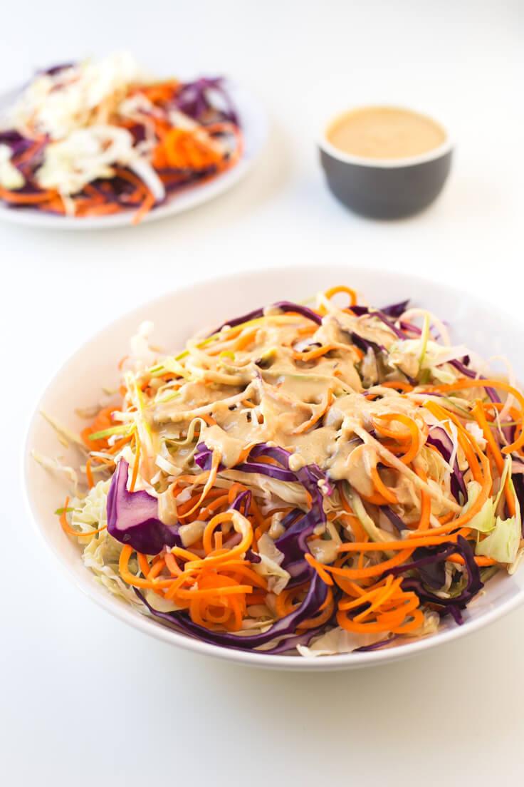 Vegan Coleslaw Recipe | danceofstoves.com #vegan