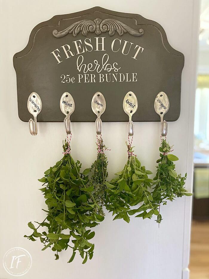 DIY Herb Wall Hooks