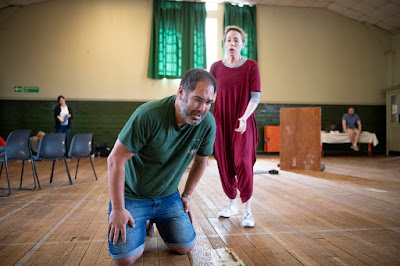Mozart: Idomeneo - Ben Thapa & Rebecca Bottone in rehearsals for Buxton Festival (Photo Richard Hubert Smith)