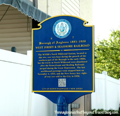Borough of Anglesea West Jersey and Seashore Railroad Historical Marker in Wildwood, New Jersey