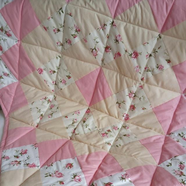 лоскутное одеяло розы