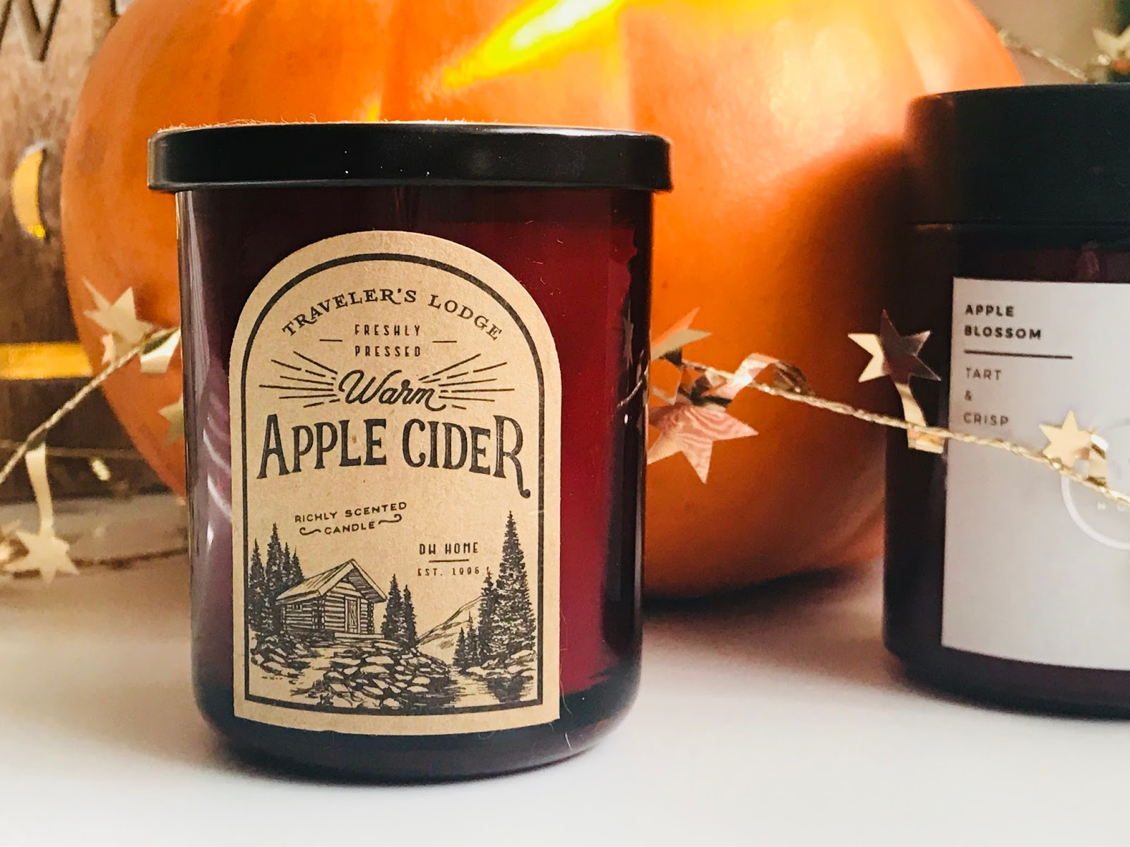 candle apple cider red autumn decor home blog blogger