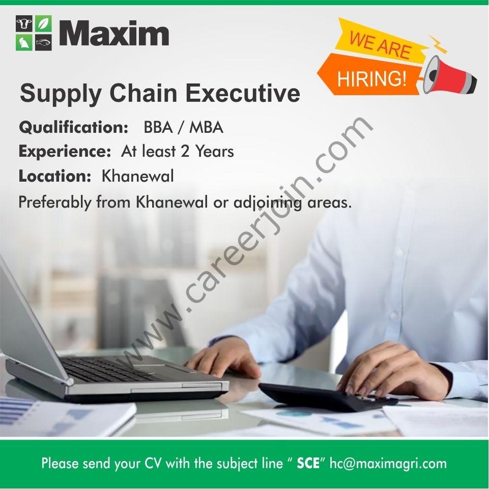 Maxim Agri Pvt Ltd Jobs Supply Chain Executive