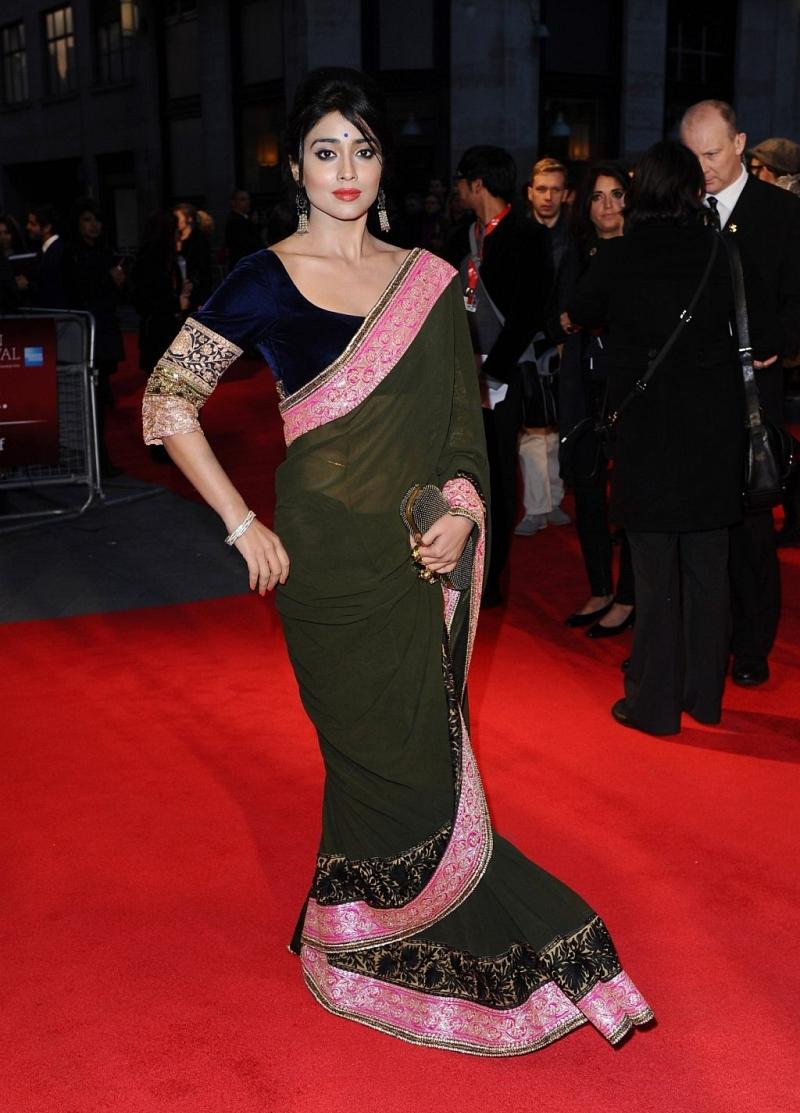 Shriya Saran at Midnights Children Premiere Show Photos