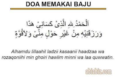 doa memakai baju