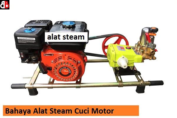 Saat mencuci motor terkadang kita menginginkan hasil yang maksimal Bahaya Alat Steam Saat Cuci Motor Sampai Merusak Cat!