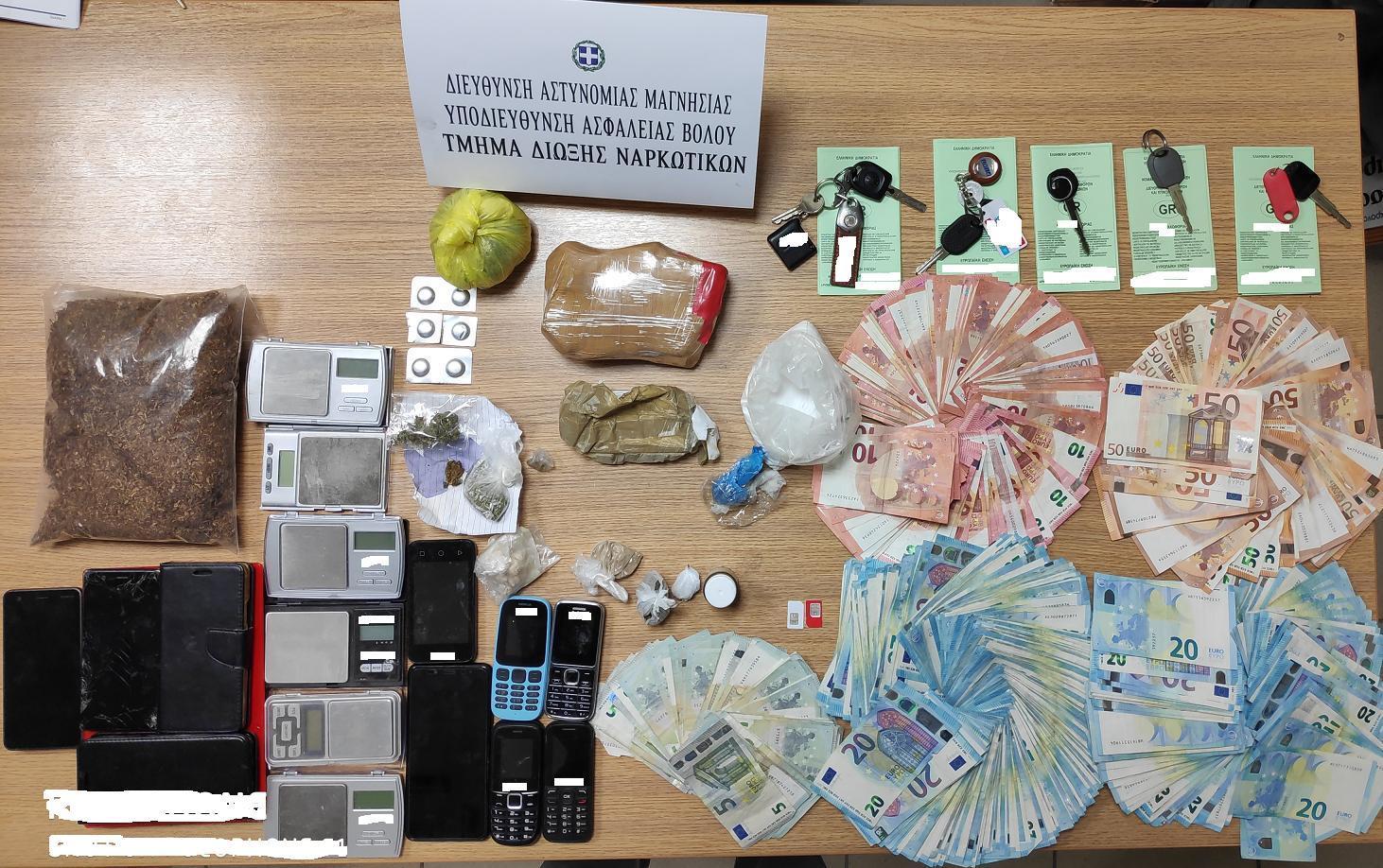 Εξαρθρώθηκαν δύο εγκληματικές οργανώσεις διακίνησης ηρωίνης στην ευρύτερη περιοχή της Μαγνησίας