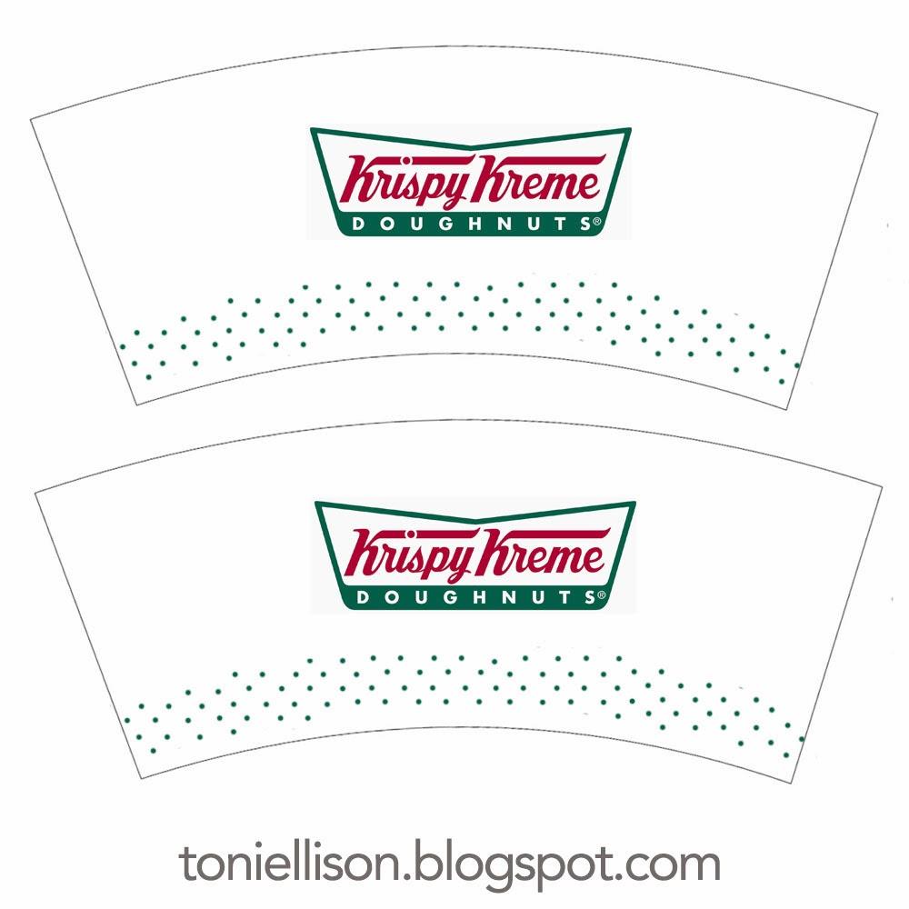 coffee cup wrapper template - toni ellison krispy kreme doughnuts coffee miniature