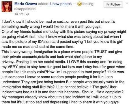 Maria Ozawa Was Disappointed After A Bureau Of Immigration Staff Posted Her Passport Online! Read THIS Now!