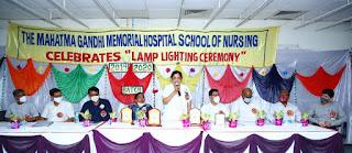 महात्मा गांधी स्मारक अस्पताल में प्रशिक्षण प्राप्त परिचारिकाओं की शपथविधी संपन्न | #NayaSaberaNetwork