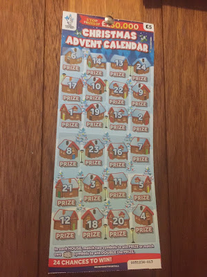2018 National Lottery Advent Calendar Scratchcard