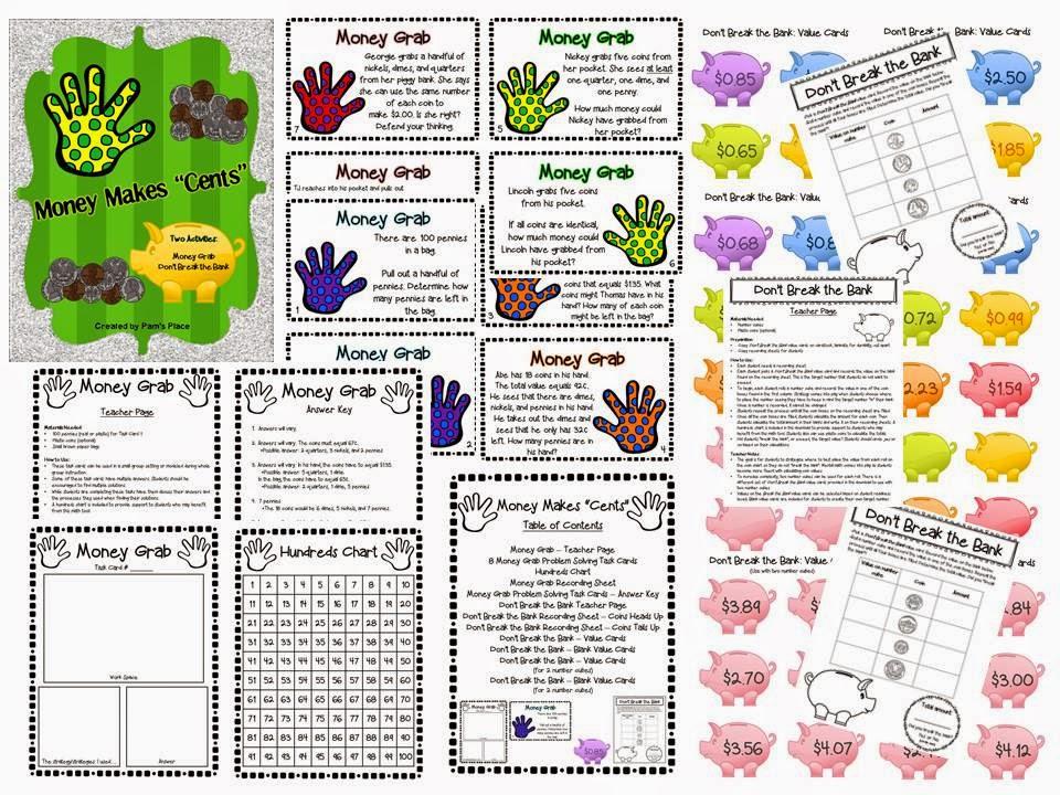 http://www.teacherspayteachers.com/Product/Money-Activities-1069582