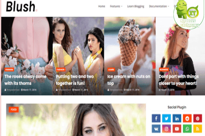 Download Blush Blogger Template Free