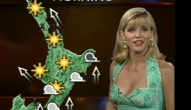 Penelope Bar presenting the weather