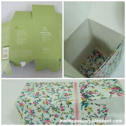 como encapar caixa com tecido