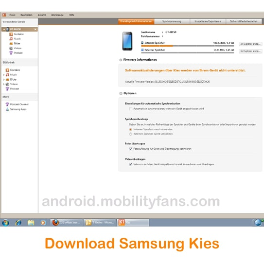 Samsung Mobile PC Suite Free Download For Windows XP 7 8 10