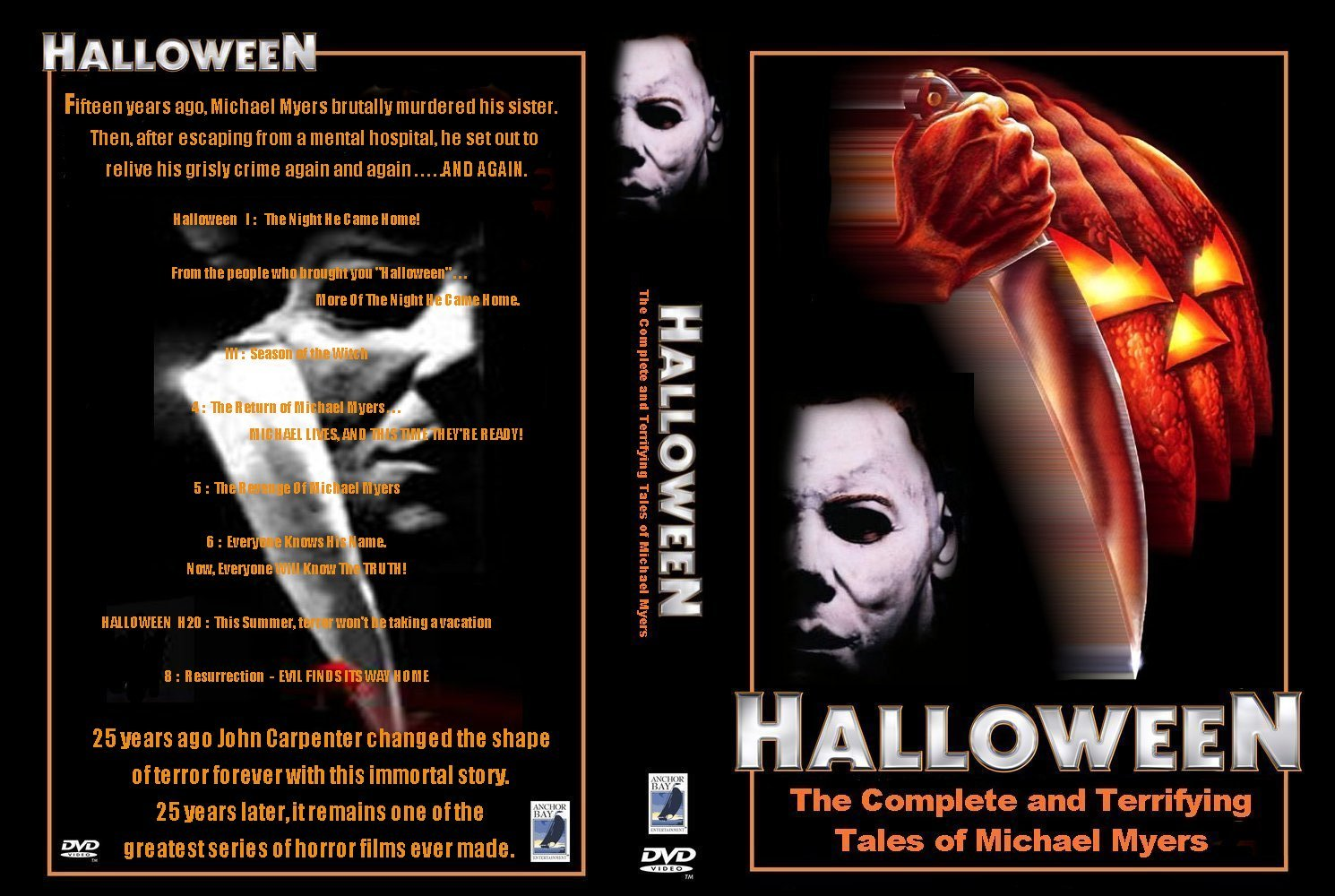 the horrors of halloween: halloween franchise (1978-2009) boxset ads