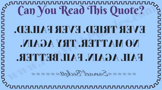 Can you read backward