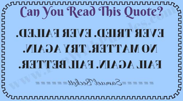 Backward reading challenge