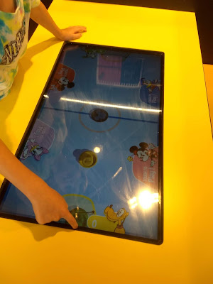 Interactive table at Disney cafe