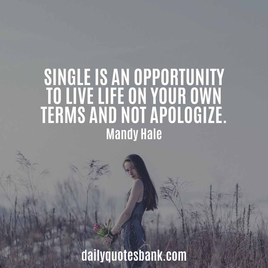 Being Single Attitude Quotes