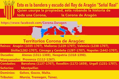 Bandera , escudo, rey, Aragón, Señal Real
