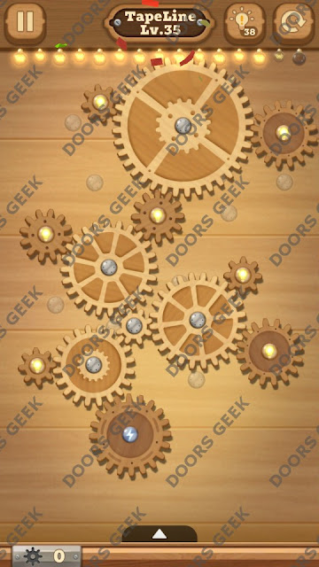 Fix it: Gear Puzzle [TapeLine] Level 35 Solution, Cheats, Walkthrough for Android, iPhone, iPad and iPod