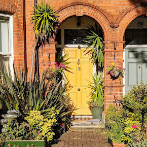 Yellow Dublin door in Donnybrook