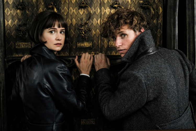Newt Scamander and Tina Goldstein in Fantastic Beasts and the Crimes of Grindelwald